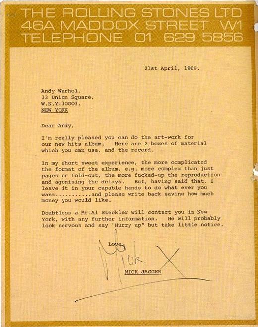 Andy Warhol - Rolling Stones Brief
