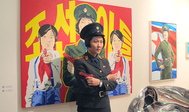 Artist M. Cheon strikes a pose