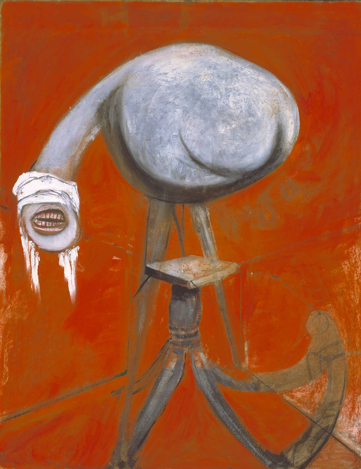 Three Studies for Figures at the Base of a Crucifixion circa 1944 by Francis Bacon 1909-1992