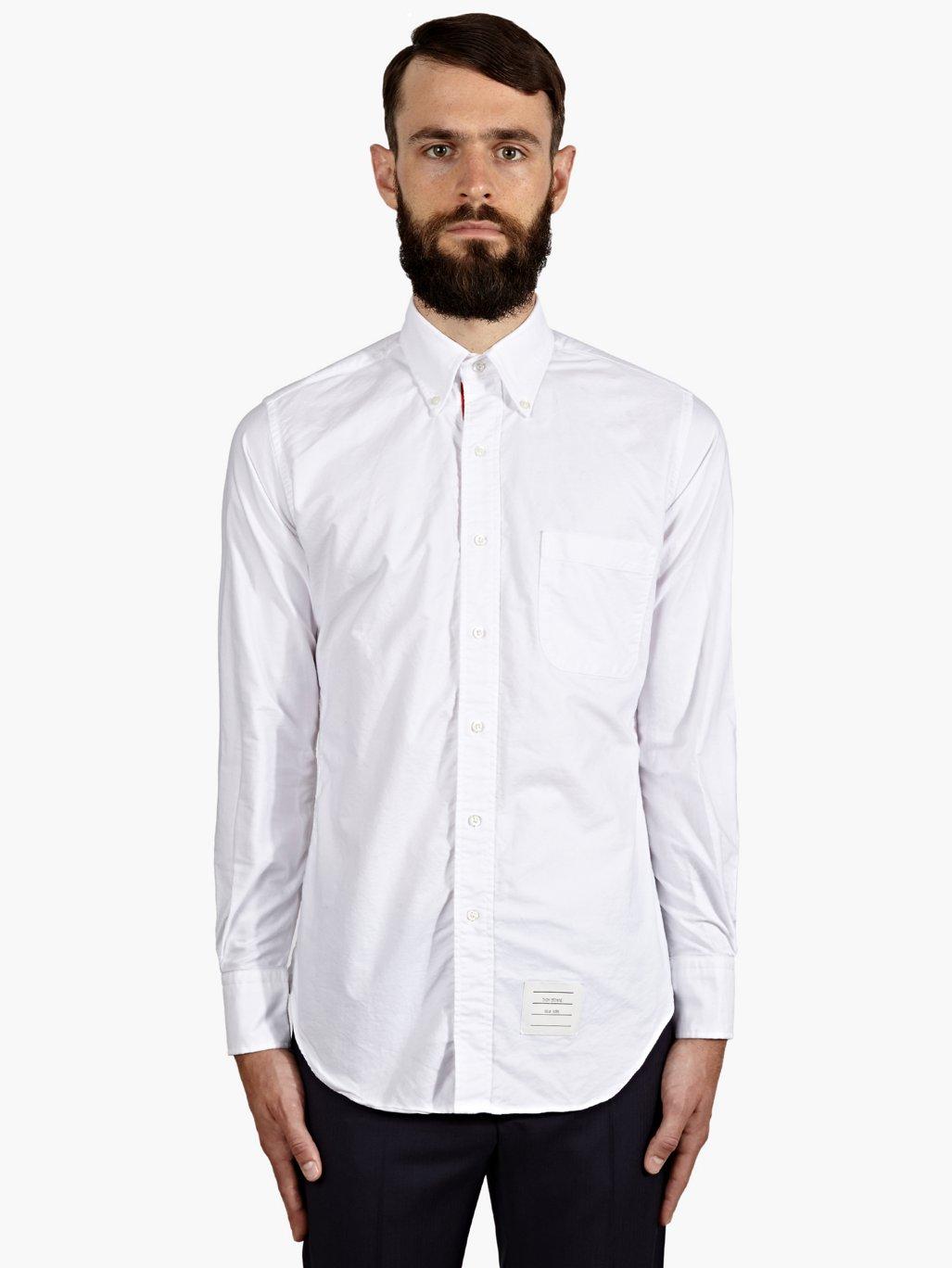 Thom browne white shirt c o w b o y z o o m for Thom browne white shirt
