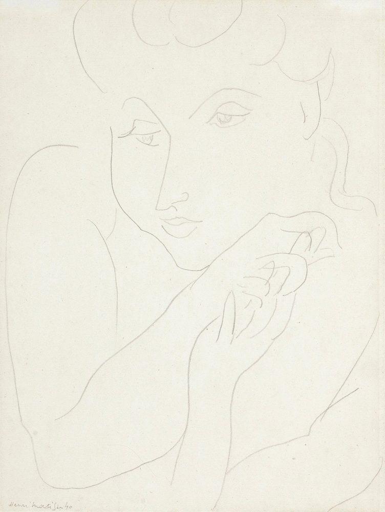 henri-matisse-portrait-de-femme-graphite