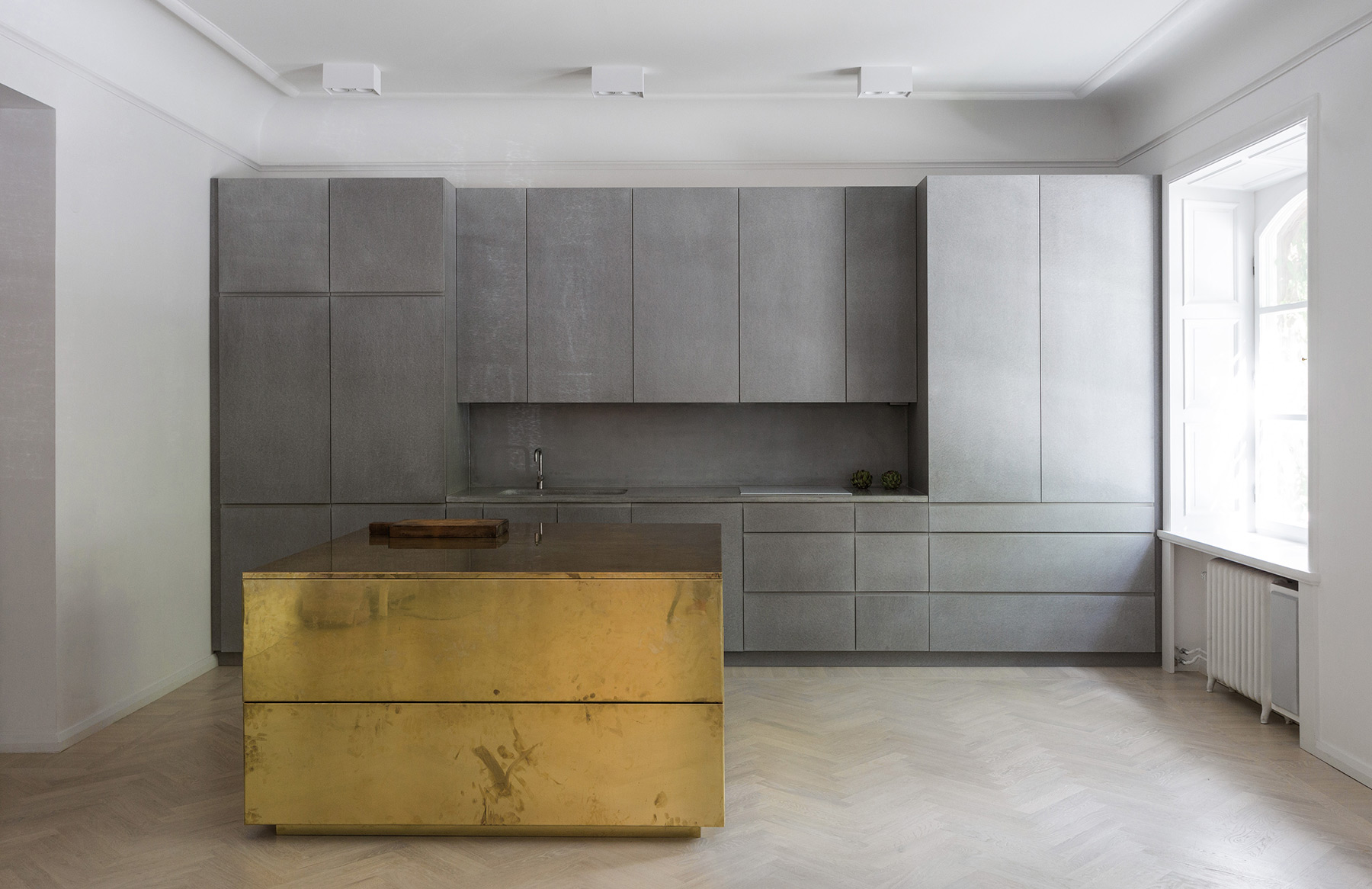 Gold Amp Gray Apartment Stockholm By Richard Lindvall