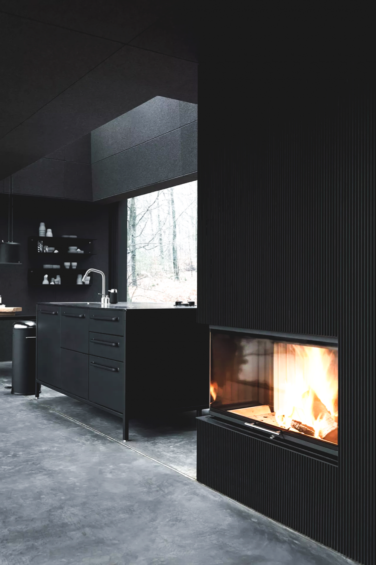 Black Kitchen Interior