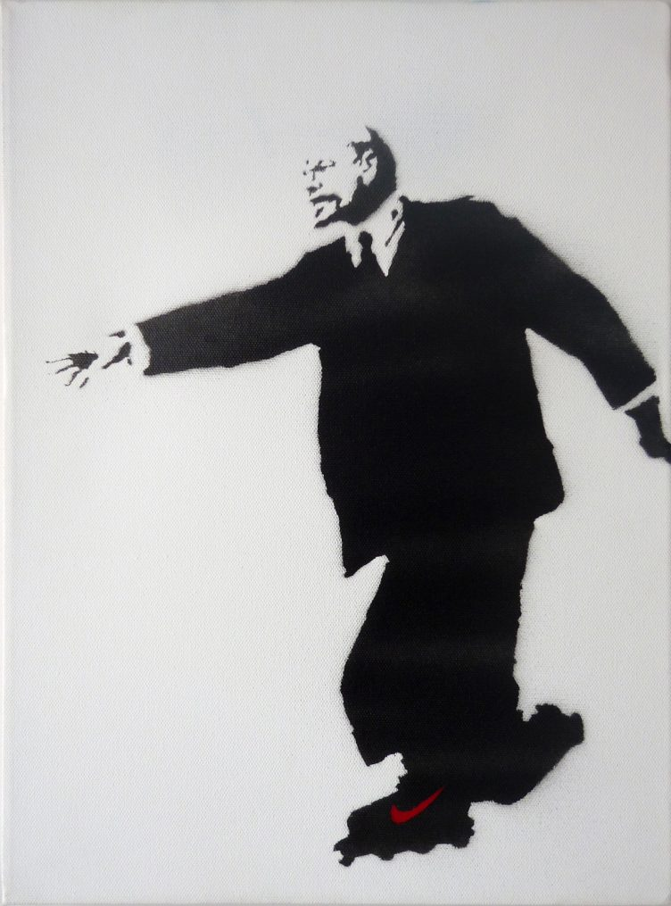 banksy-lenin-on-roller-skates-paintings-prints-and-multiples-spray-paint-zoom