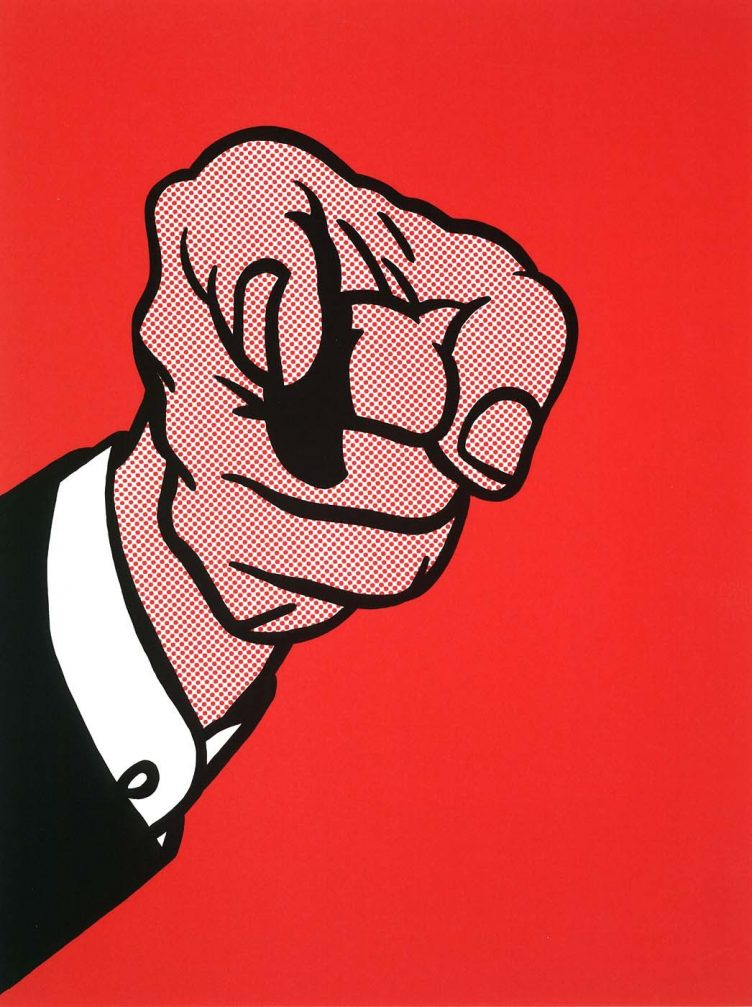 roy-lichtenstein-finger-pointing-1973