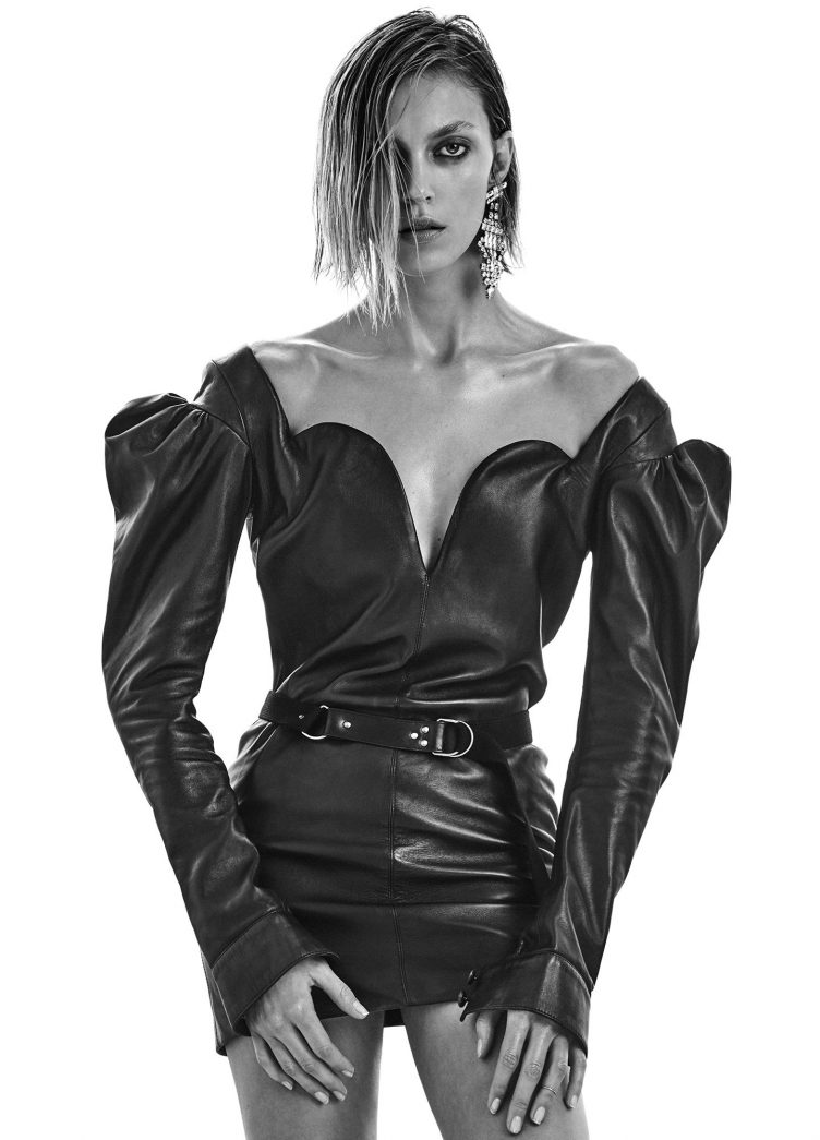 Anja Rubik for Vogue Ukraine February 2017 photographed by Chris Colls 001