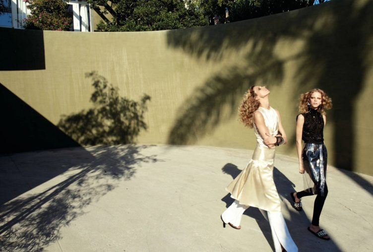 Vogue Paris October 2016 by Glen Luchford - Models Anja Rubik and Lexi Boling 005