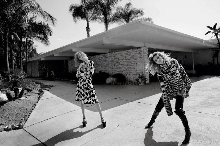 Vogue Paris October 2016 by Glen Luchford - Models Anja Rubik and Lexi Boling 003