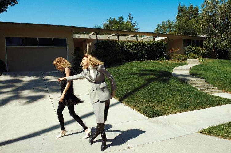 Vogue Paris October 2016 by Glen Luchford - Models Anja Rubik and Lexi Boling 002