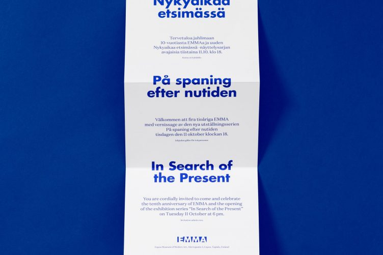 EMMA - In Search of the Present Designed by Werklig, Finland 005