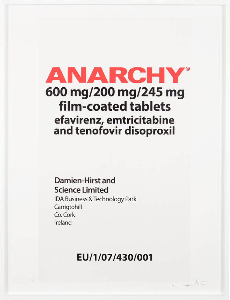 Damien Hirst - Eat the Rich Series: Anarchy