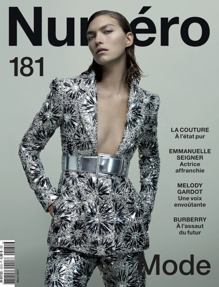 Katja Mayer photographs Arizona Muse for Numéro magazine cover