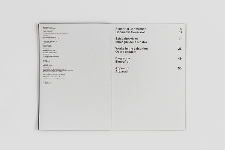 Walter Leblanc: Sensorial Geometries / Geometrie Sensoriali 002