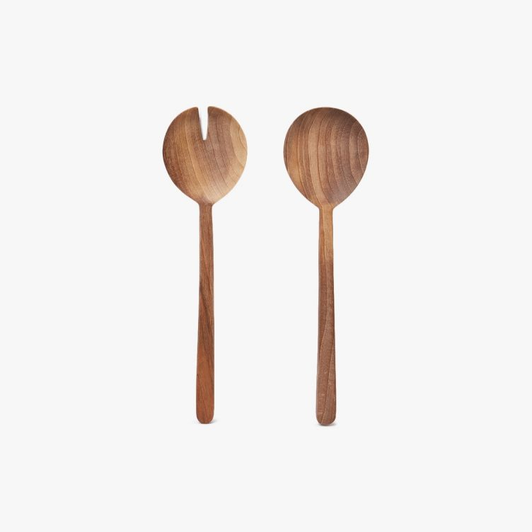 Simple Walnut Serving Set by Hawkins New York 01