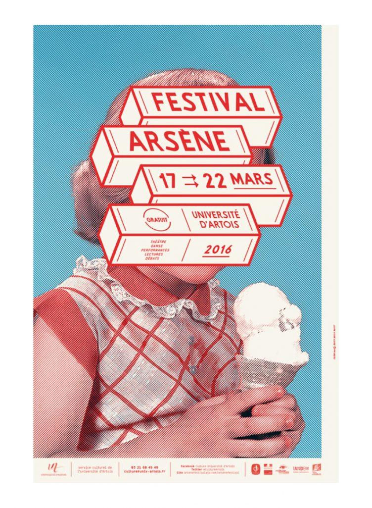 Visuel du festival Arsène 2016, organisé par l'Université d'Artois (Nantes) poster 02