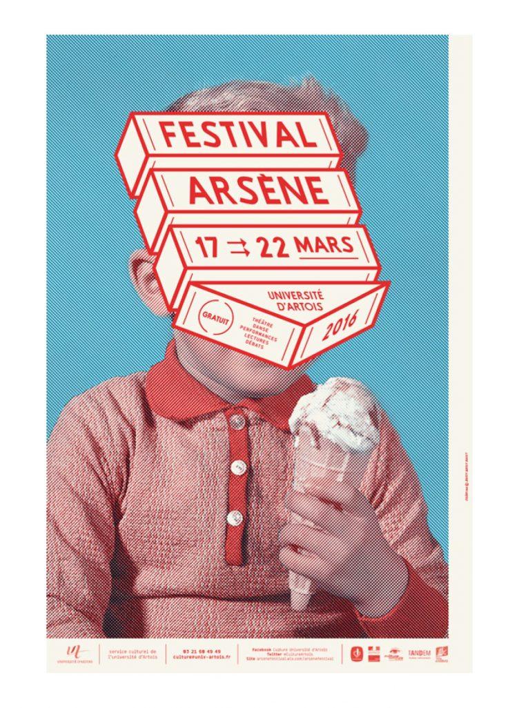 Visuel du festival Arsène 2016, organisé par l'Université d'Artois (Nantes) poster 01