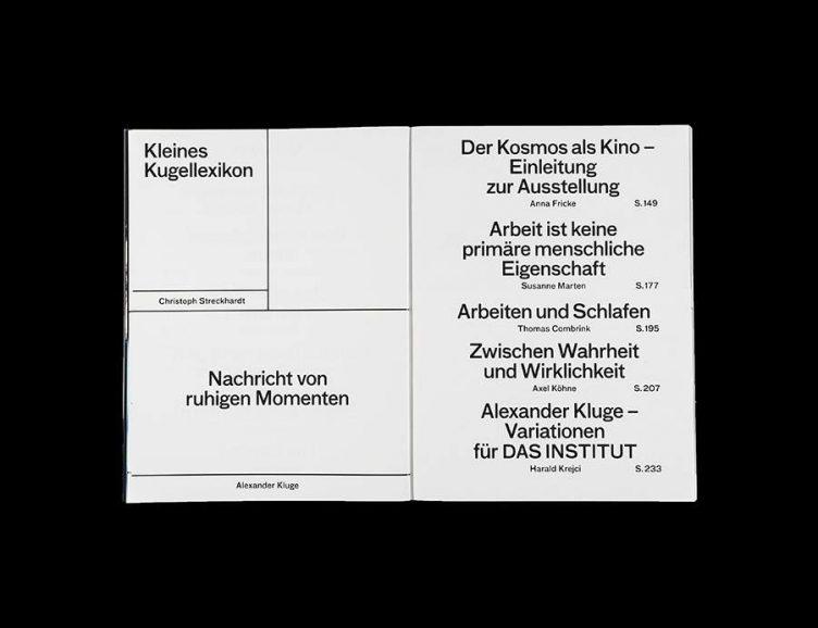 Pluriversum Alexander Kluge Spread - Spector Books 006