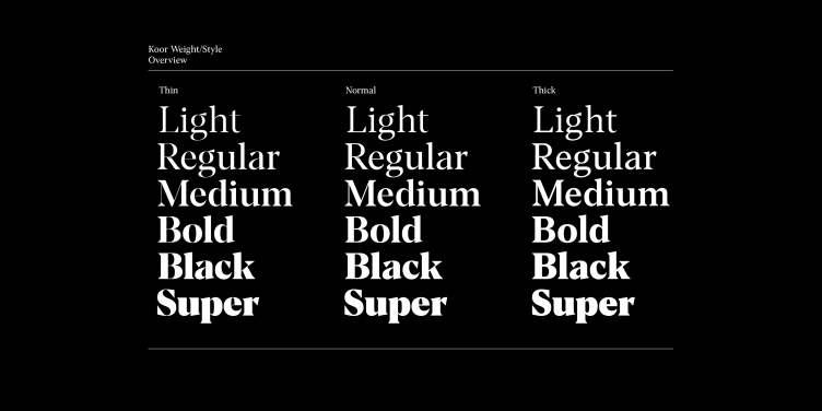 Koor Typeface Example - The Designers Foundry 18