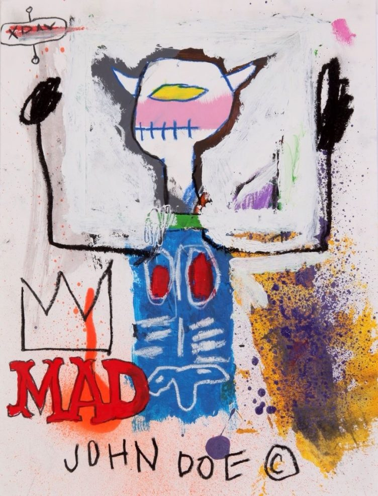 Jean-Michel Basquiat - Mad King, 1981