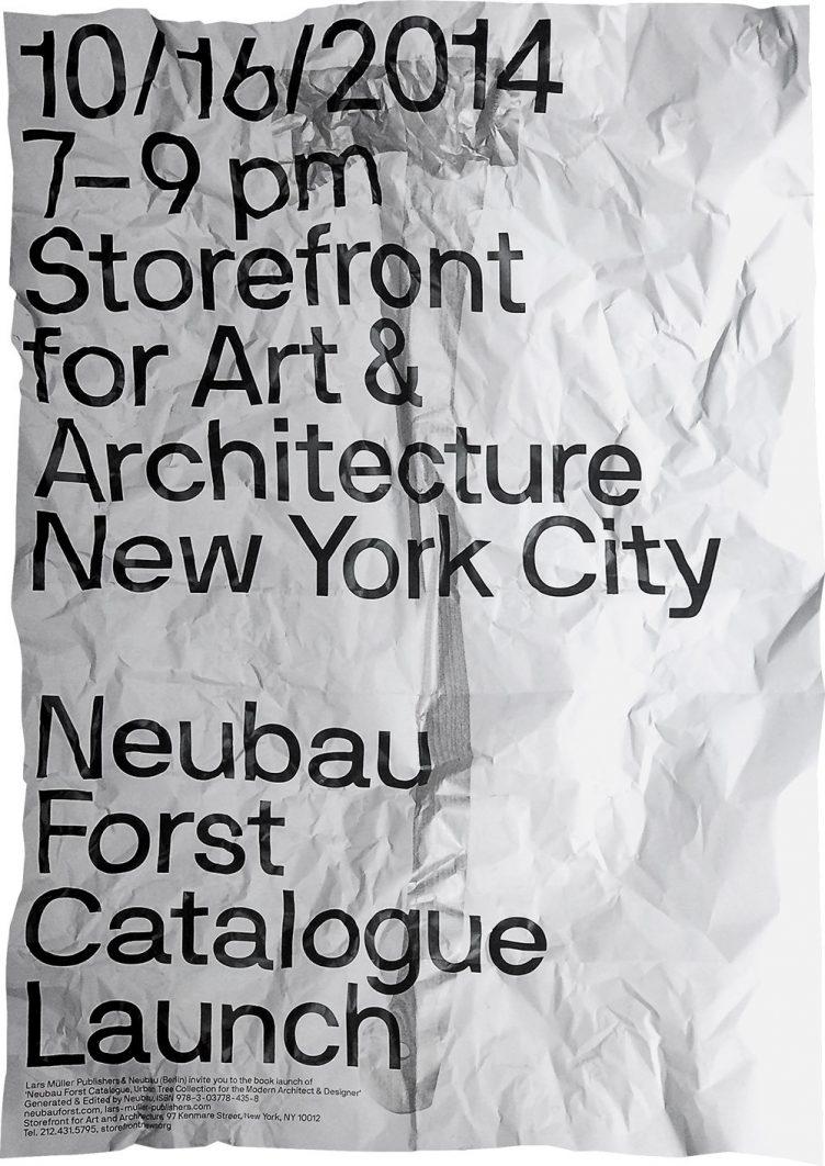 Neubau NBF NYC Poster Series 2014 03