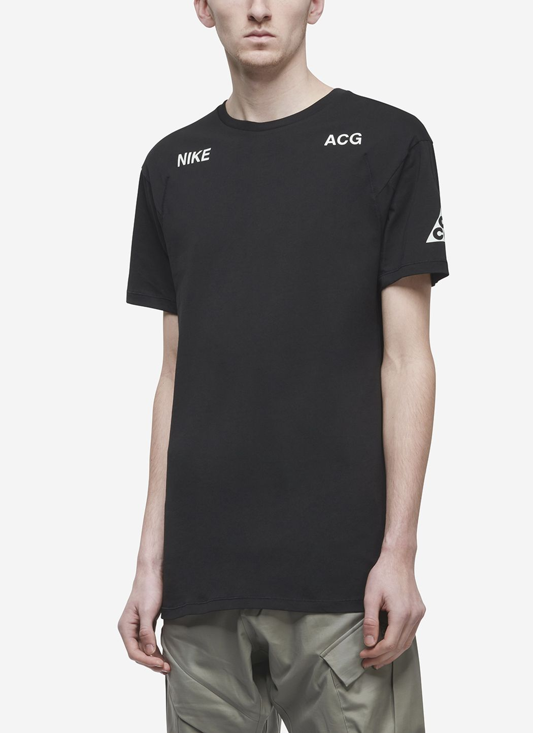 Nikelab ACG T-Shirt in Black / Barely Green 02