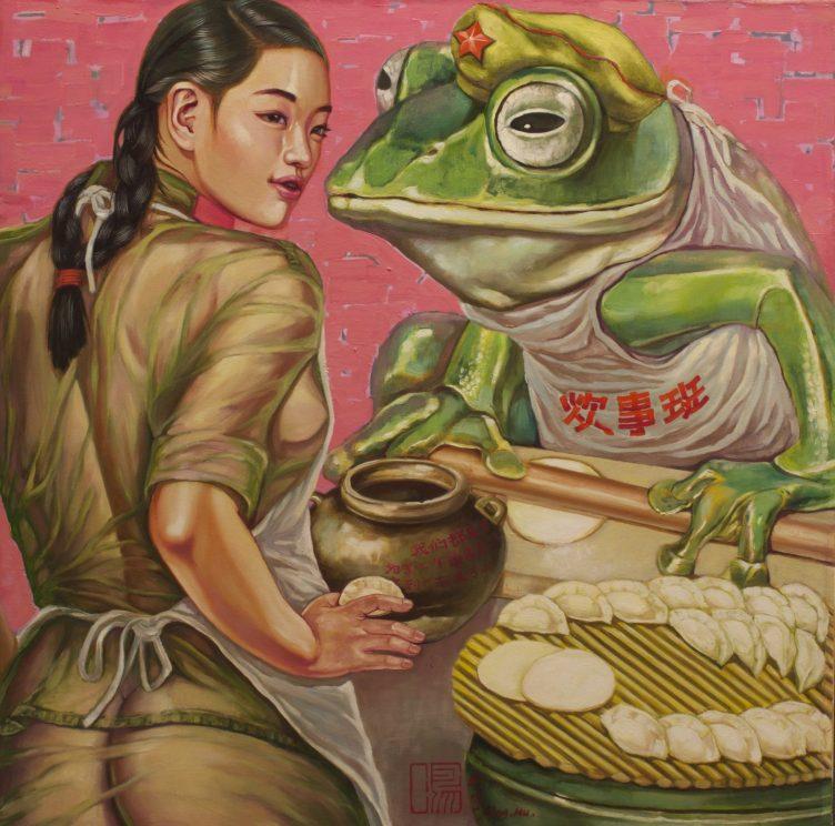 Hu Ming - Dumplings - Oil on Canvas