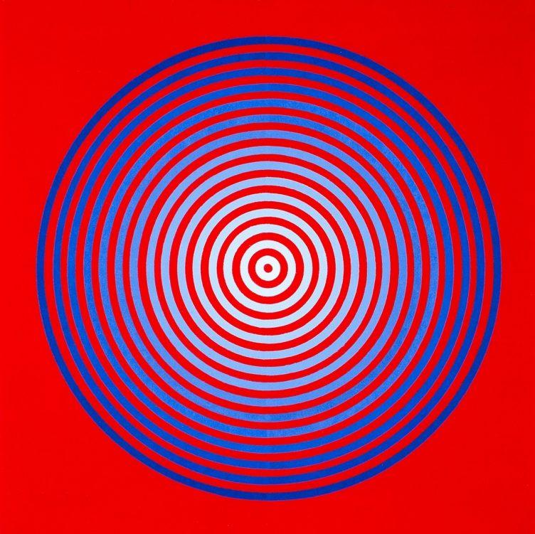 Marina Apollonio - Gradazione 15 Blu/Bianco su Rosso, 1971