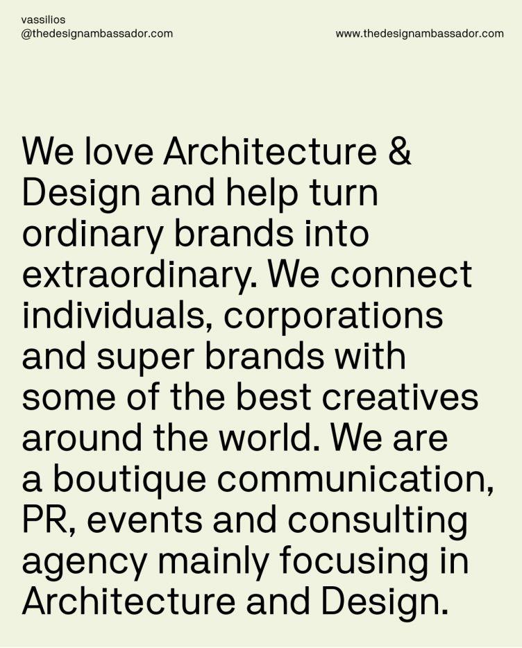 Design Ambassador Identity