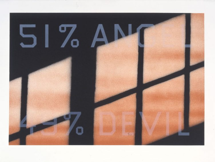 51% Angel / 49% Devil - Edward Ruscha