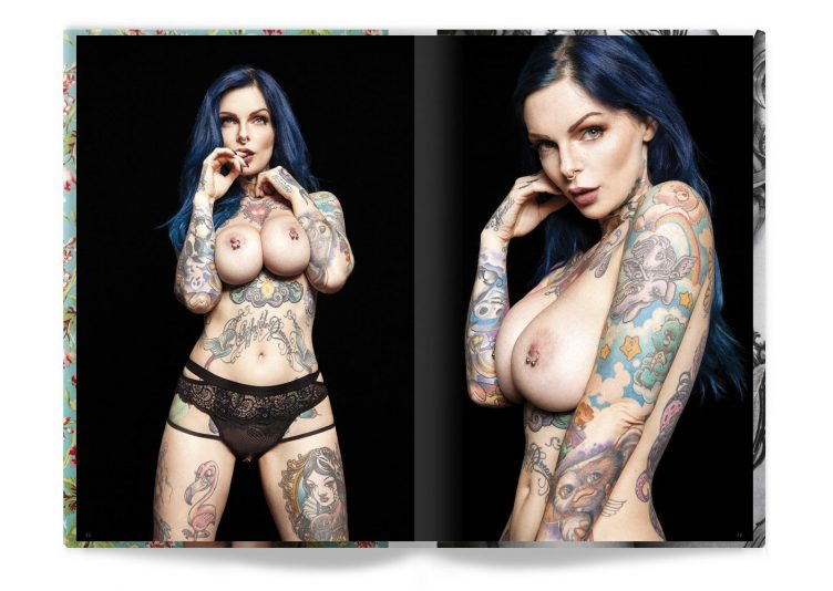 Tattooed Beauties Photographed by Christian Saint Spread 002