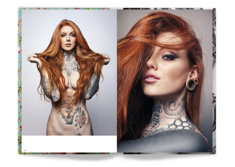 Tattooed Beauties Photographed by Christian Saint Spread 003