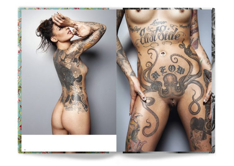 Tattooed Beauties Photographed by Christian Saint Spread 005