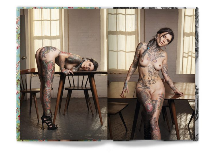 Tattooed Beauties Photographed by Christian Saint Spread 008