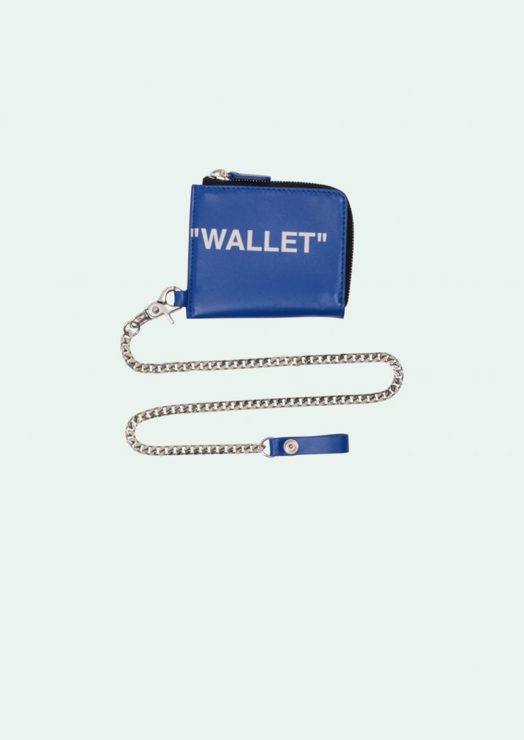 Off-White™ Blue Quote Coin Purse 002