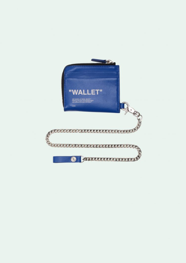 Off-White™ Blue Quote Coin Purse 001