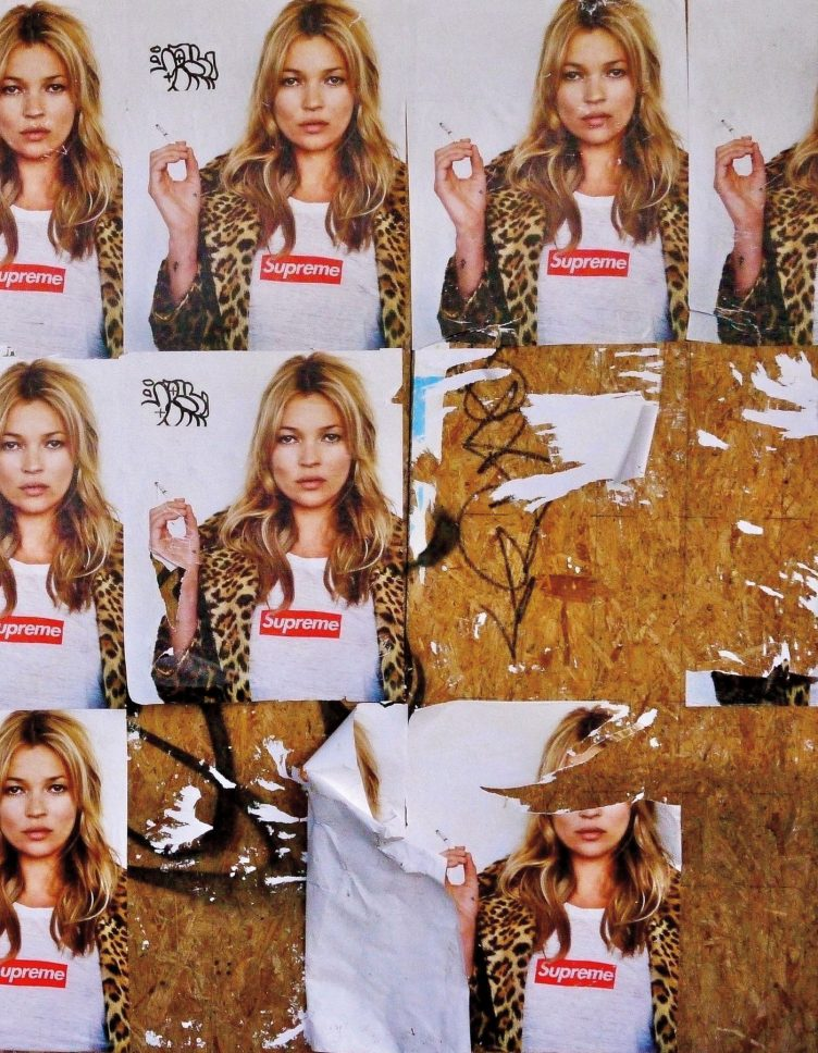 Alasdair McLellan, Kate Moss for Supreme, 2012 Fly-posters