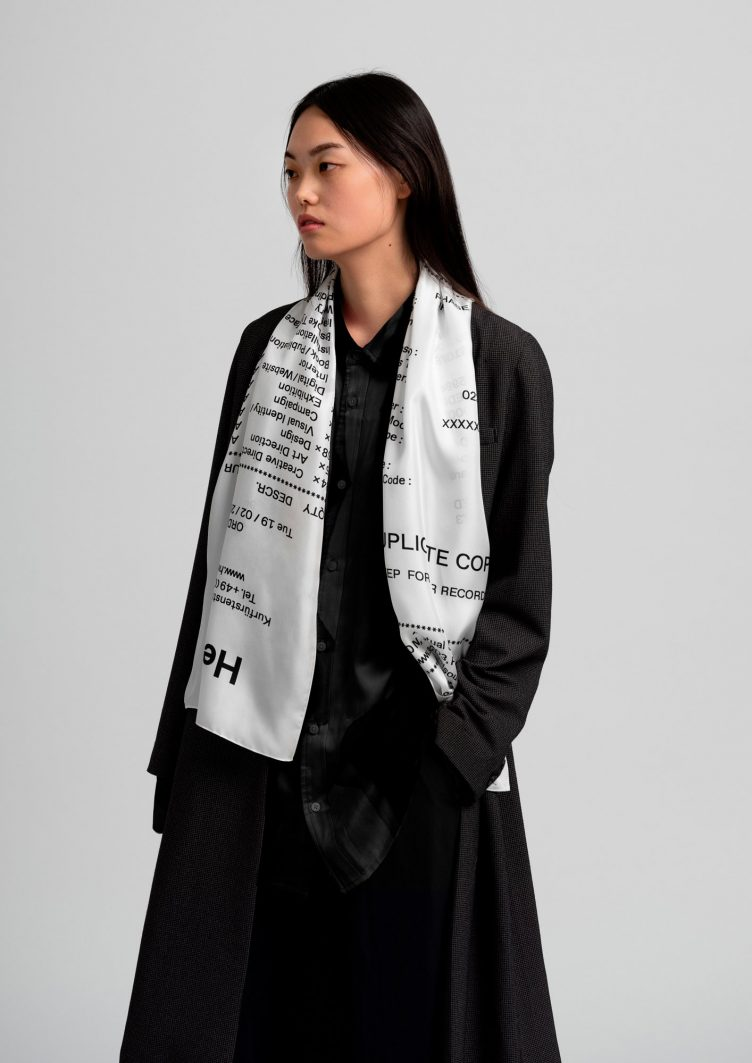 Receipt Scarf by HelloMe + Actual Source 010