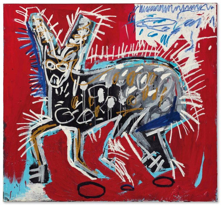 Jean-Michel Basquiat, Red Rabbit, 1982