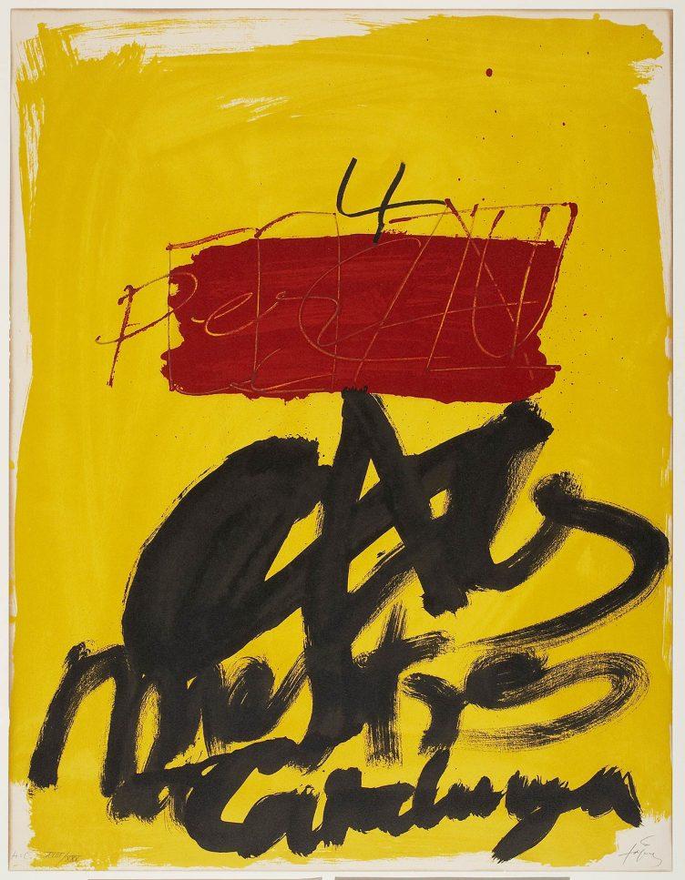 Antoni Tàpies, Mestres Catalunya, 1974