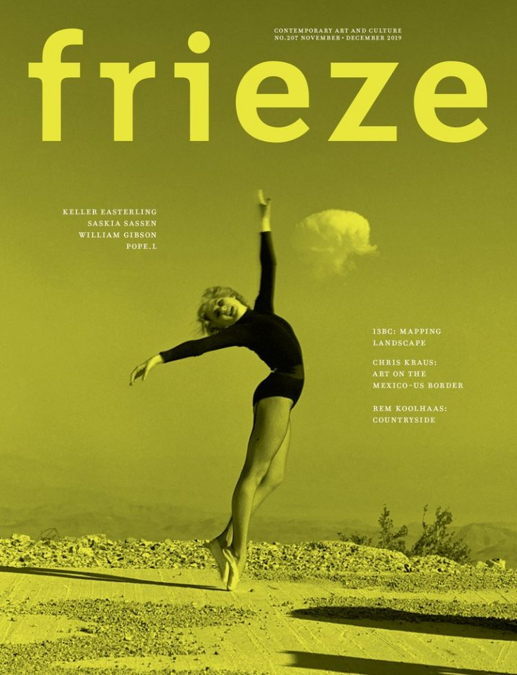 Frieze Magazine November / December 2019 - Issue 207 Cover