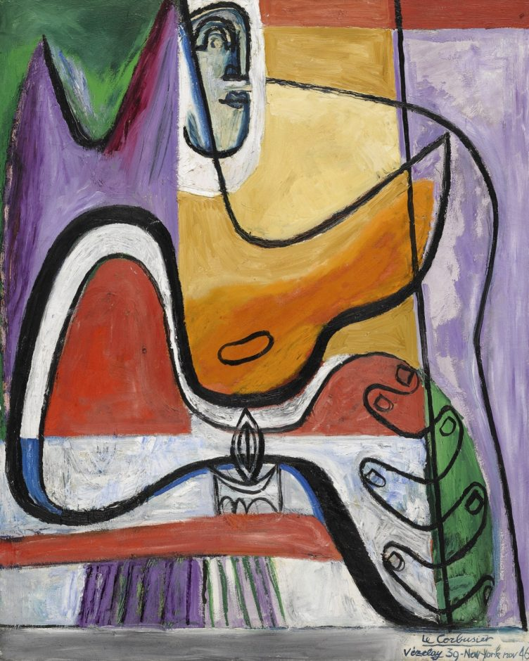 Femme à la bougie, 1946, Le Corbusier