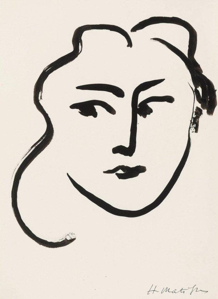 Tête de femme, Henri Matisse (1869-1954)