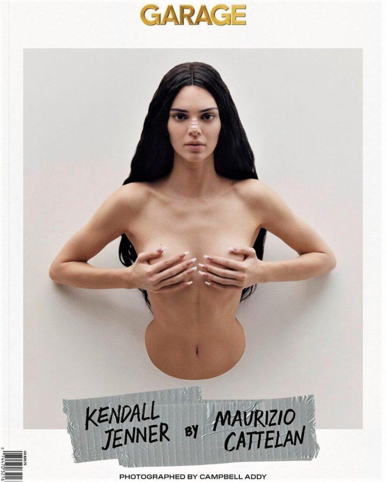 Garage Magazine, Kendall Jenner by Maurizio Cattelan