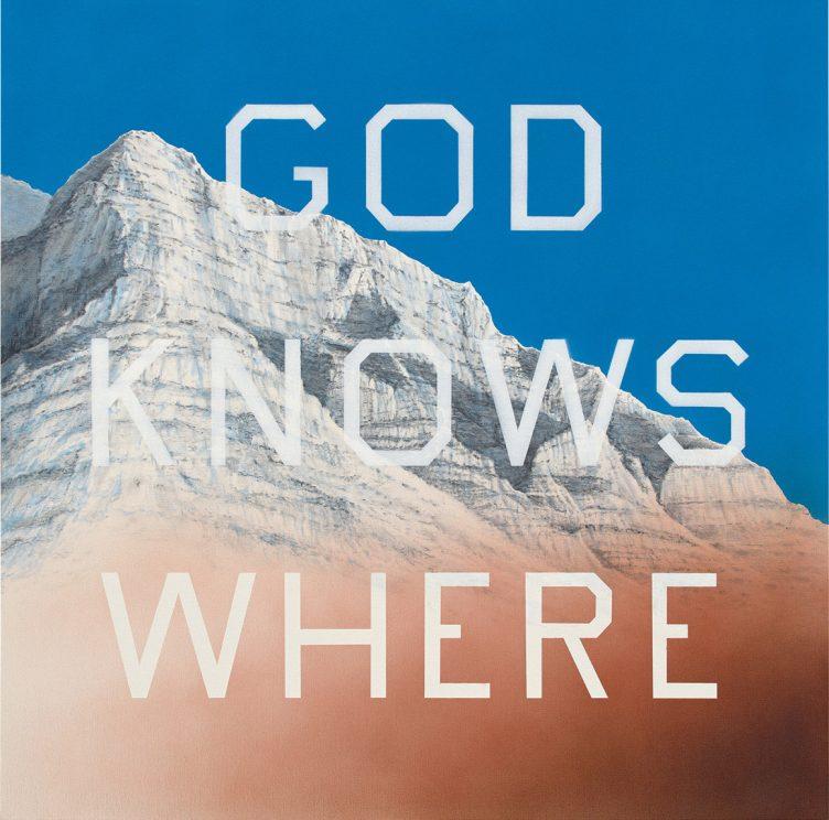Ed Ruscha, God Knows Where, 2014