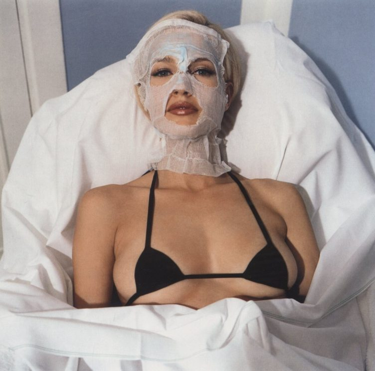 Karen Mulder in Chanel bra by Bettina Rheims