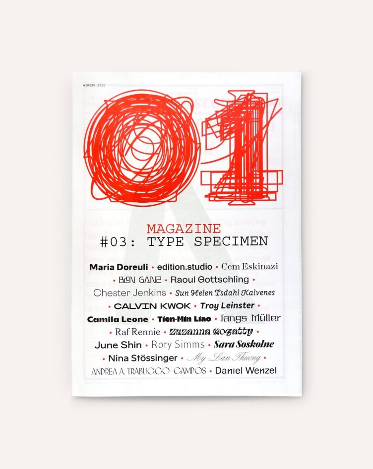 O1 Magazine, No. 03: Type Specimen 001