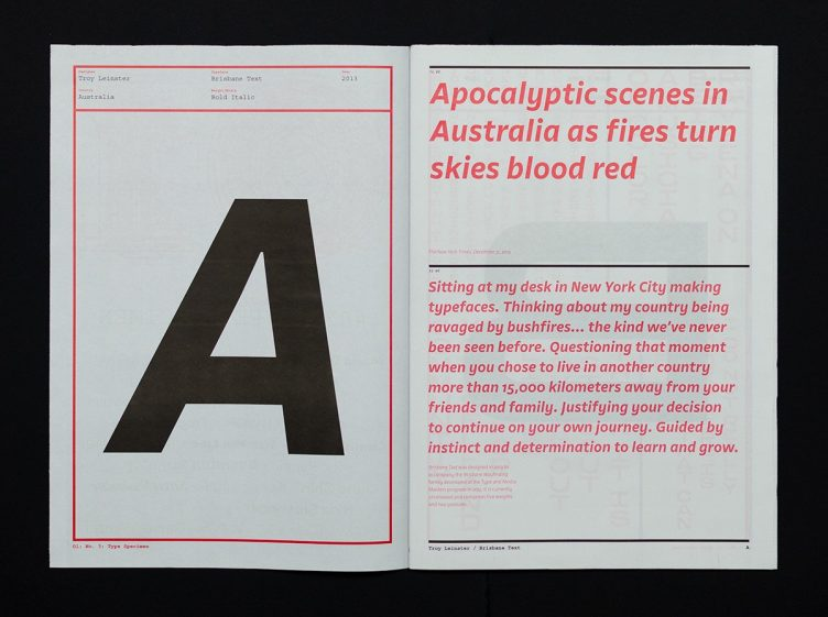O1 Magazine, No. 03: Type Specimen 003