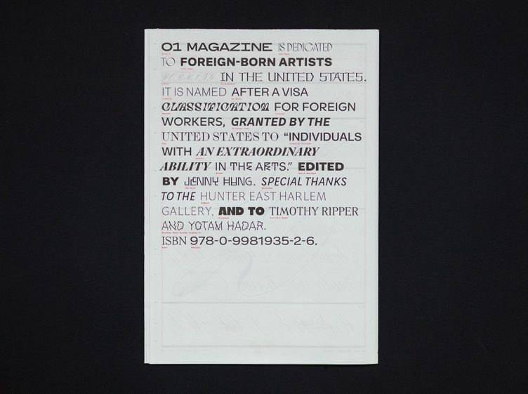 O1 Magazine, No. 03: Type Specimen 007