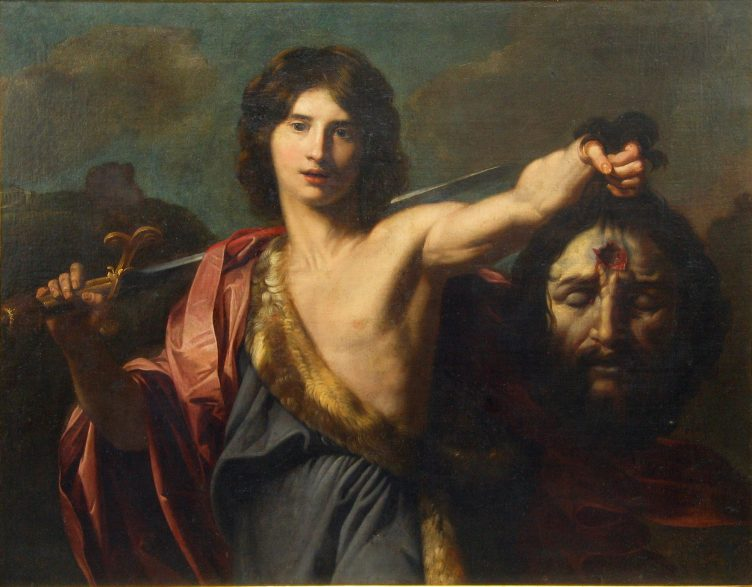 Nicolas Régnier, David with the Head of Goliath, 17th Century