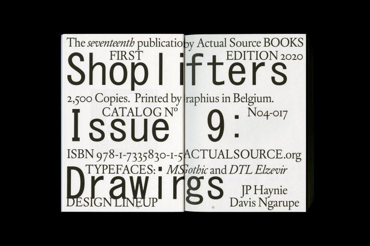 Shoplifters Issue 9: DRAWINGS Spread 034